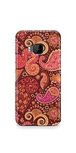 Casenation Pink Paisley HTC One M9 Matte Case