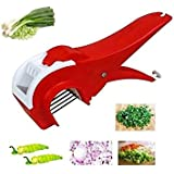 MURTISIDDH Vegetable Cutter Slicer Sharp Stainless Steel Blade With Locking System Red 1-Piece 2 In 1 Multi Cutter Vegetable And Fruit Cutter, Peeler