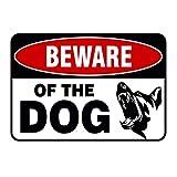 Coversolate Hund Schild/Metall Warnzeichen Hund, Achtung Hund/Warnschild Hundelogo, Door Signs Beware Guard Dog, Weatherproof, Home Deko