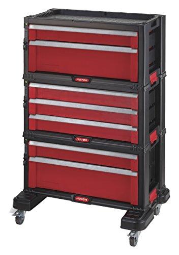Preisvergleich Produktbild Keter 221482 Werkzeugwagen, mit 7 Schubladen
