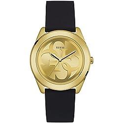 Guess Reloj Analógico para Mujer de Cuarzo con Correa en Caucho W0911L3