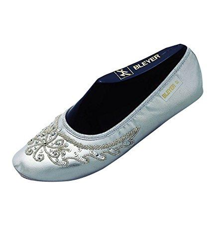 Pailettenbestickte Bauchtanzschuhe, Gymnastikschuhe orientalischer Tanz-Schuhe, silber (Frauen Größere Bauchtanz Kostüme Für)