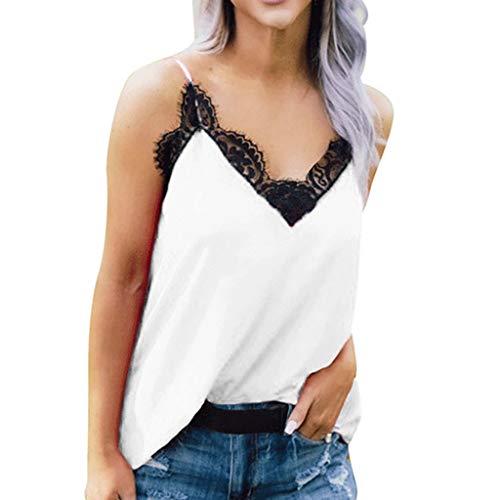 BfmyxgsDamen sexy Neckholder Top schwarzer Spitze V-Ausschnitt ärmellose Weste Bequeme Tops Pyjamas Clearance Unterwäsche für Frauen