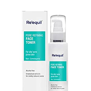 RE' EQUIL Pore Refining Face Toner, Alcohol Free Toner for Oily, Sensitive and Acne Prone Skin (100ml)