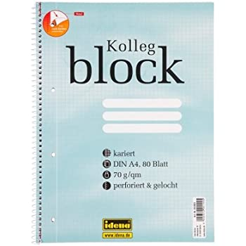 6x Collegeblock A4 Spirablock Kollegblock liniert