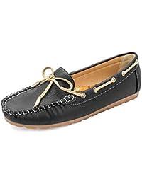 tresmode Women's Paris Black Boat Shoes