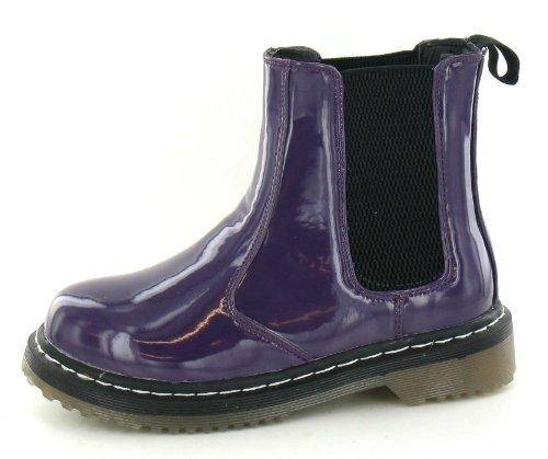 Spot à talons épais/épais/Sole Bottines soufflet latéral Violet