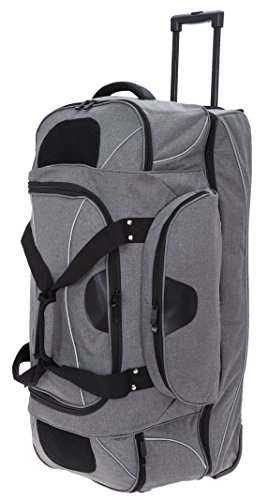 Dermata Reisetasche mit Rollen Bigpack 83 cm Trolley, 120 L, Two Tone Grau 3462cv + Koffergurt