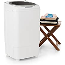 oneConcept Ecowash Deluxe 7 • Lavadora para camping • Carga superior • Lavado delicado • Transportable • Móvil • Económica • Máx. 350 vatios • Secado rápido • Centrifugado • 2 programas de lavado • Capacidad de lavado: 7 kg • Temporizador • Blanco