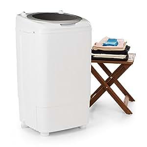 oneConcept Ecowash Deluxe 7 • Lavatrice Campeggio • Con Centrifuga • 2 programmi di lavaggio • Per biancheria delicata e normale • Timer • Qualità Prezzo • 7 kg 350 Watt • Efficiente • Economica • Presa integrata • Studenti • bianca