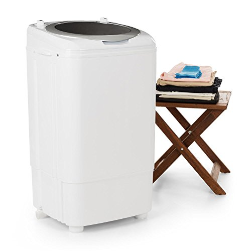 oneConcept Ecowash Deluxe 7 • Mini-Waschmaschine • Camping-Waschmaschine • Toploader • für Singles • Studentenhaushalte • 7 kg Kapazität • 350 Watt Leistung • Schleuderfunktion • 2 Programme • weiß
