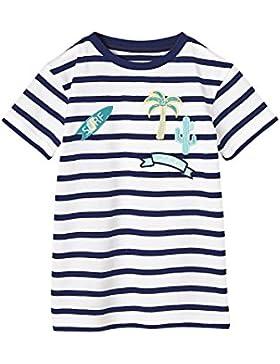 VERTBAUDET Camiseta Para Niño a Rayas con emblemas