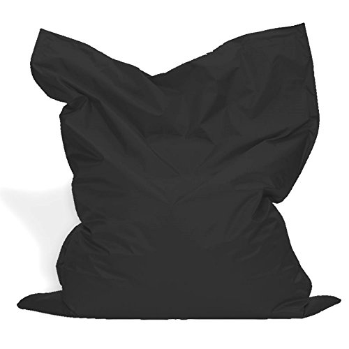 B58 Sitzkissen XL-XXXXL Sitzsack Bodenkissen Kissen Sack In-und Outdoor (XL= 145 x 100, Schwarz)