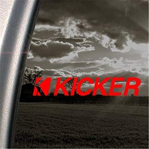 Wandaufkleber Kinderzimmer Auto Aufkleber Auto Aufkleber Kicker Red Decal Kicker Amp Window Red Sticker 15cm (Kicker-auto-aufkleber)