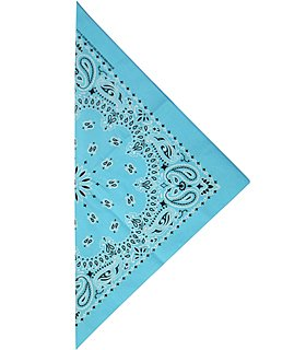 - Original Made in USA Bandana - Light Blue, Größe One Size / Ohne Größe (Light Blue Bandana)