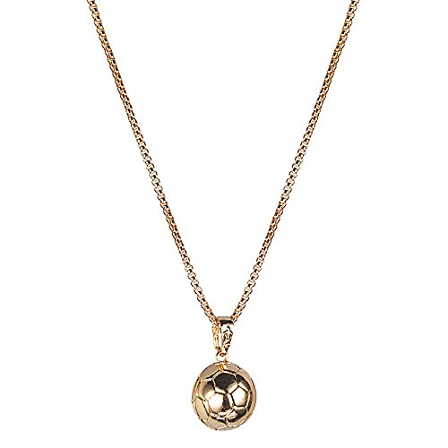 Merssavo Mode Femmes Collier Boule Bijoux Pendentif Collier Or Football