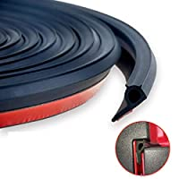12 Meters Adhesive Universal Weather Stripping Pickup Truck Bed Rubber Tailgate Seal Kit Tailgate Cover Sound Insulation Noise Control Dust Proof Sealant Strip