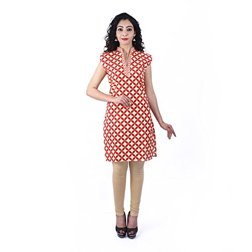 UniqChoice Pure Cotton Attractive Floral Print Kurtis for Women and Girls