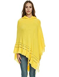 94f51c8470ac Ferand Ladies' Hooded Cape with Fringed Hem, Crochet Poncho Knitting  Patterns for Women