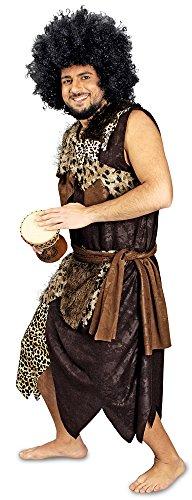 (Dschungel König Afrika Kostüm für Herren Gr. 58 60 - Tolles Kostüm für Neandertaler, Afrikaner oder Dschungelkrieger für Karneval oder Mottoparty)