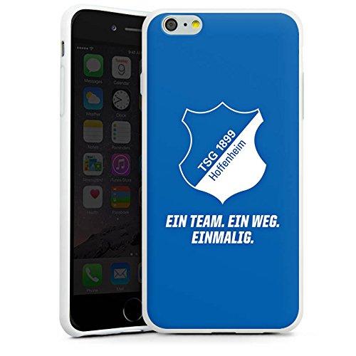 Apple iPhone X Silikon Hülle Case Schutzhülle TSG 1899 Hoffenheim Fanartikel Fussball Silikon Case weiß