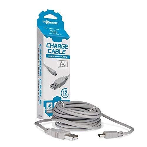 Tomee : Cable Cargador Para Nintendo Wii-u Mando Pro