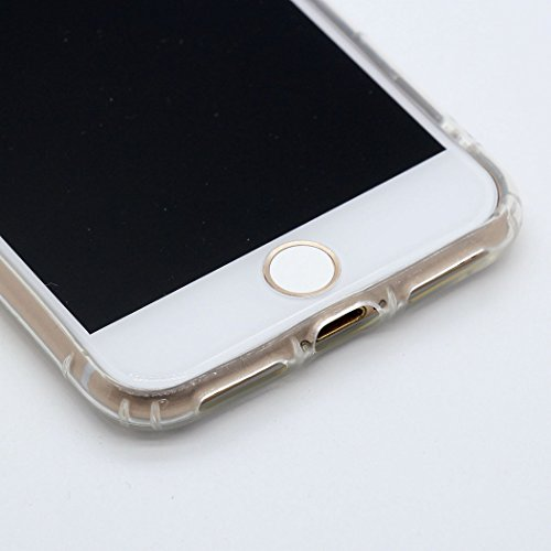 Cover iPhone 8 / 7 Custodia Keyihan Inverno fiaba tema del fumetto Trasparente Morbido TPU Silicone Protettiva Case per Apple iPhone 8 / 7 (Fiocco di neve) Abito da matrimonio