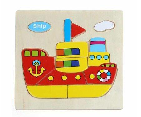 scrox 1PCS 3D Puzzle in drei Maße Schiff Dampfmaschine Bildungs-Spielzeug Bildungs für Kinder Akzent auf das Intellektuelle Entwicklung von Kindern und die kreativen Denkens der erste Schritt (Puzzle Dampfmaschine)