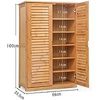 Preisvergleich für Schuhregal DELLT Einfacher Schuhschrank Bambusschuhrahmen Massivholz Einfacher Schuhaufbewahrung Wohnzimmer Mehrgeschossiges, multifunktionales Eingangstürschrank (größe : 2/6 Floors)