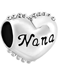 6d14f7c83 Pugster Heart Love Nana You Are Special Charm Bead Sale Fit Pandora Bracelet