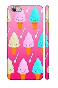 AMAN Cartoon Ice Creams 3D Back Cover for Vivo Y53