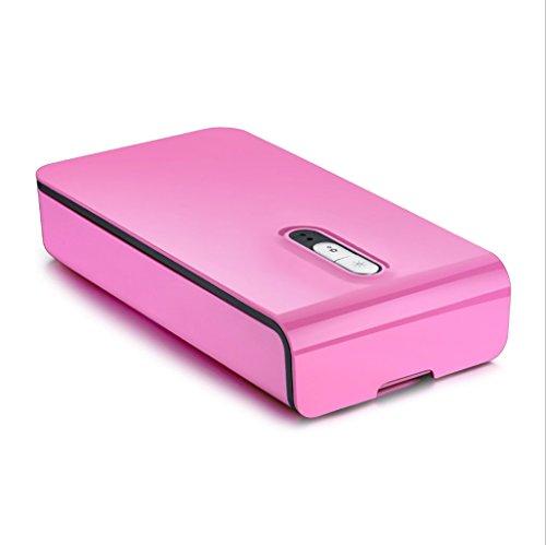 Tägliche Uv-flüssigkeit (Sterilisator Handy UV-Sterilisator, Multifunktions-Reiniger USB-Aufladung, geeignet für Mobiltelefone, Uhren, Unterwäsche, Unterwäsche und andere kleine Gegenstände Sterilisator (Farbe : Pink))