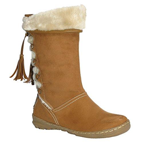 PixieHeidi - Stivali a Gamba Larga donna , marrone (Camel), 39