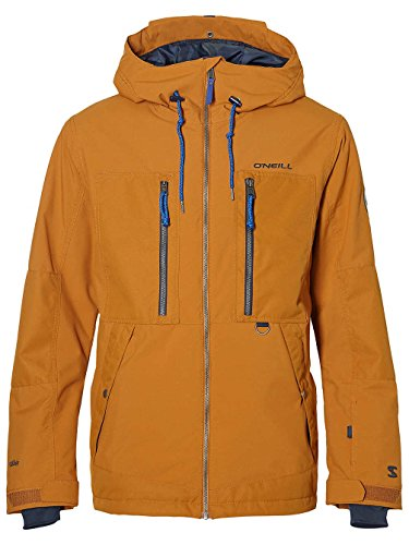O'Neill Herren Snowboard Jacke Hybrid SEB Toots Terrain Jacket Glazed Ginger, M Orange Snowboard-jacke