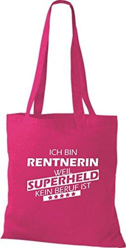 Tote Bag Shirtstown Sono Un Pensionato Perché Il Supereroe Non È Una Professione Fucsia