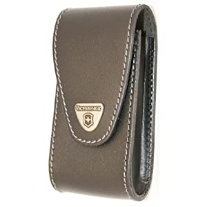 41bZyQ l4XL. SS300  - Victorinox V4.0524 4.0524.XL Jumbo Leather-Belt Pouch, Black, 27 cm