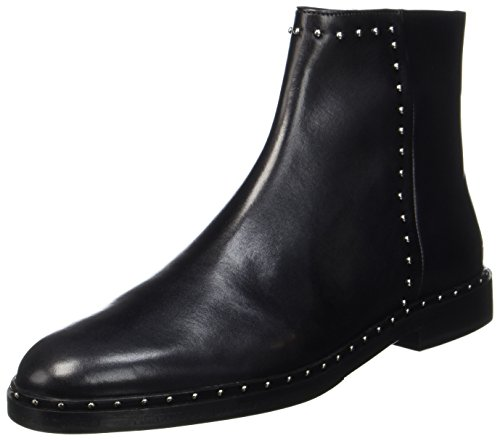 Melvin & Hamilton Damen Susan 47 Chelsea Boots, Schwarz (Crust Black + Rivets Nickel, Hrs), 38 EU (Rivet Damen)