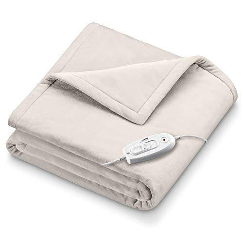 Sanitas SHD 70 Wärmezudecke, besonders weich und kuschelig, 6 Temperaturstufen, 180 x 130 cm