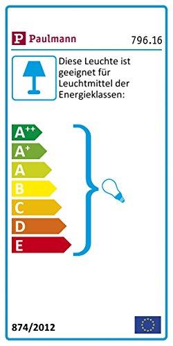Paulmann 79616 Neordic Helin Pendelleuchte max. 1x20W Hängelampe für E27 Lampen Deckenlampe Grau/Satin 230V Beton/Glas ohne Leuchtmittel