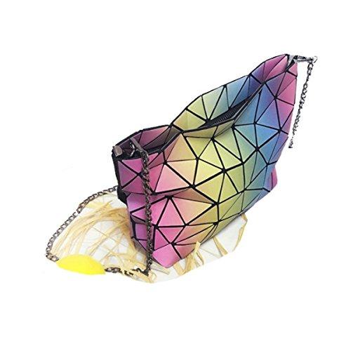 Borsa A Spalla Di Rainbow Di Modo Borsetta Femminile Variopinta Di Sfumatura Geometrica A
