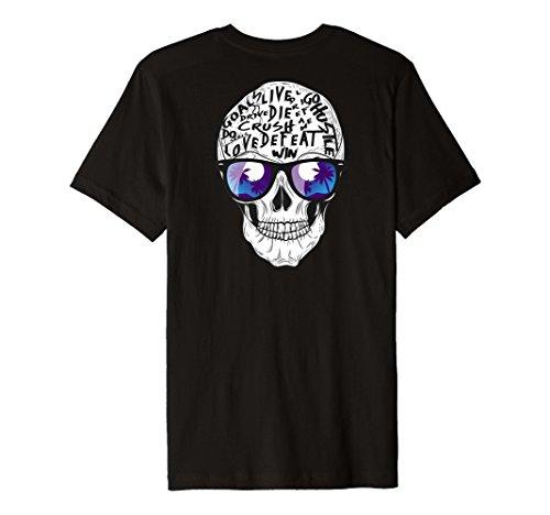 Skull Kunstdruck Graphic Rückseite Design Premium T-Shirt Geschenk