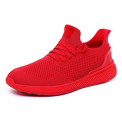 2019 Spring Autumn Fly Weave Men Casual Shoes Sneakers Male Breathable Lace Up Chaussure Shoes Sneaker Men TeFootwear Red 13 -