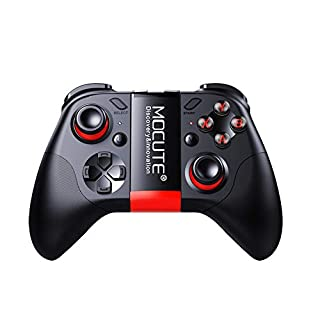 Docooler MOCUTE 054 Wireless BT 3 In 1 Gamepad + Dual Joystick + Phone Holder Telescopic Game Controller Smartphone Tablet Handle for Android/iOS/Windows/PC/TV