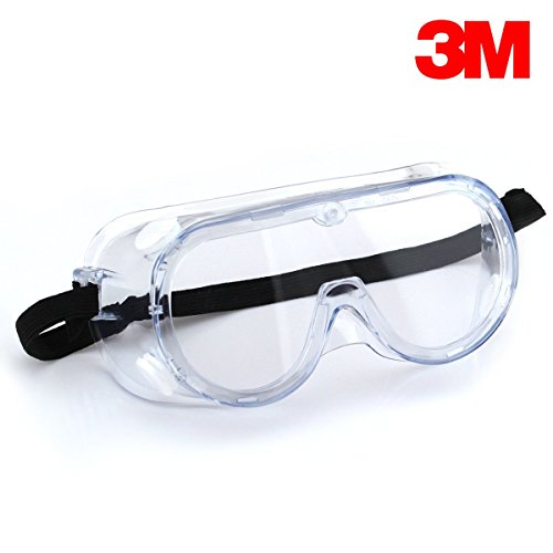 (CERTIFIED REFURBISHED) 3M 1621 Polycarbonate Safety Goggles for Chemical Splash