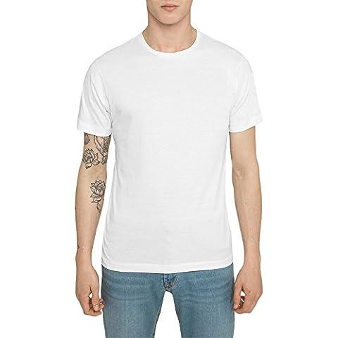 Camisetas para Hombre, Camiseta Lisa, Blanca, Negra de Algodón, Jersey, Alta Calidad, Slim Fit, Manga Corta, Cuello Redondo, T Shirt Fashion Designer, Ropa Moda Casual S M L XL