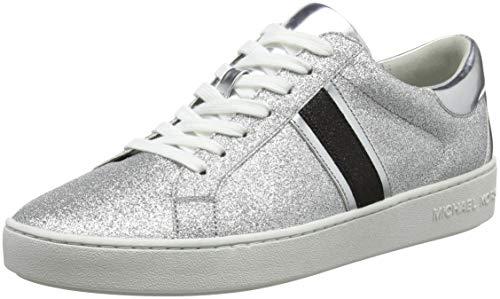 Michael Kors Keaton Stripe Sneaker, Zapatillas para Mujer, Multicolor (Silver/Blk 033), 40 EU