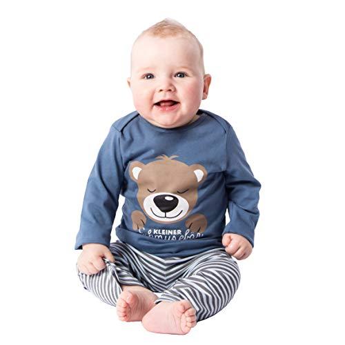 Baby - Jungen Schlafanzüge Kleiner Schmusebär, Blau, 74/80