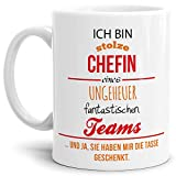 Tasse mit Spruch Chefin - Kaffeetasse/Mug/Cup - Qualität Made in Germany