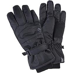 HEAT HOLDERS Gants de ski d'hiver thermiques matelassés, imperméables et très chauds pour femme Petit moyen Noir