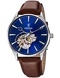 Festina Herren-Armbanduhr Analog Automatik Leder F6846/3